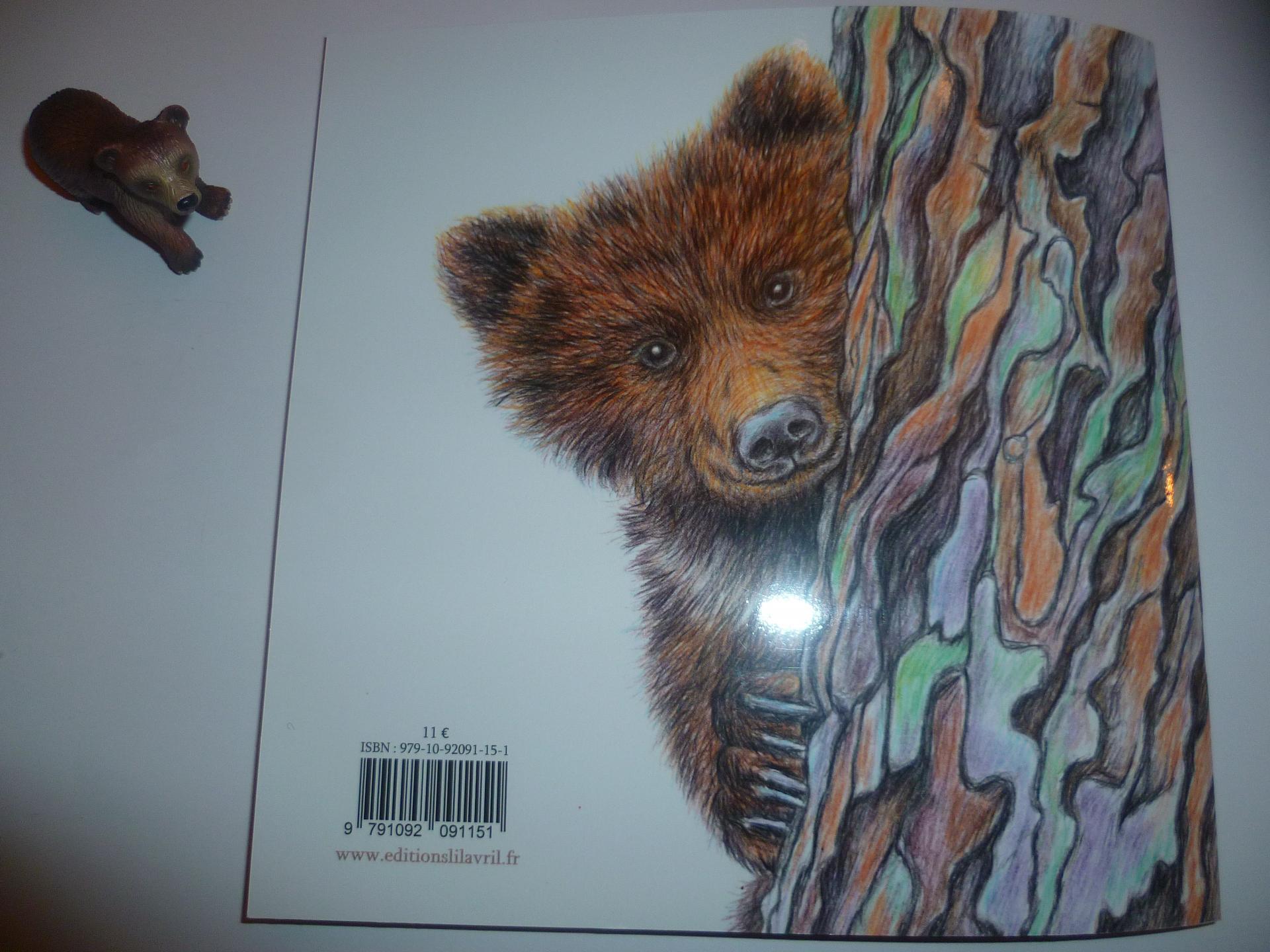 Un ourson sur un arbre